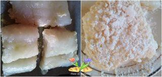 merluzzo in crosta di mandorle