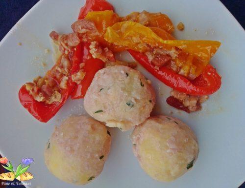 Polpette delicate di patate e prosciutto