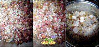 risotto con salame cotto e taleggio