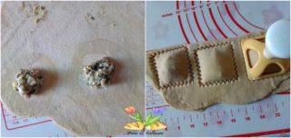 tortelloni salsiccia e coste su crema di formaggio