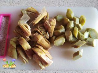 insalata tiepida di carciofi con guanciale