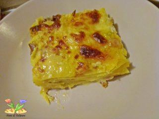lasagne con verza pollo zafferano
