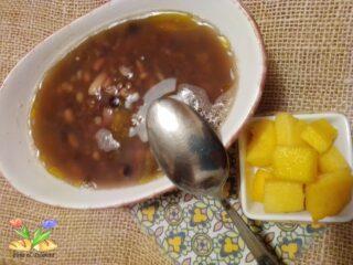 zuppa di cereali legumi e lardo piccante