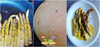 asparagi con crema allo zafferano