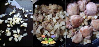 pollo con dadolata di rapa