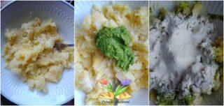 quadrotti di patate con pesto