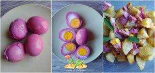 insalata di patate e uova rosa