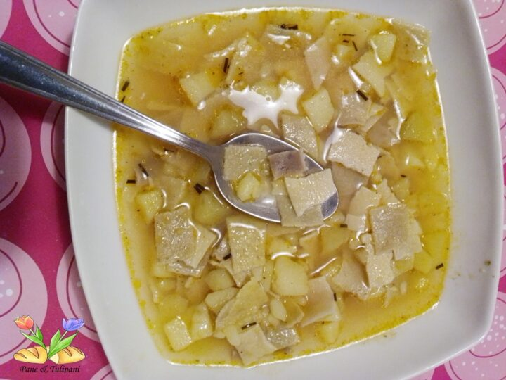 minestra di maltagliati con patate