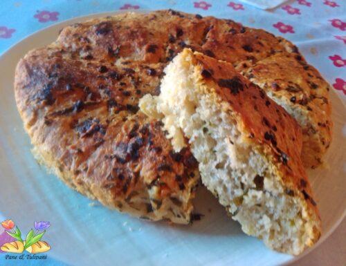 Pane bianco con prezzemolo e aglio