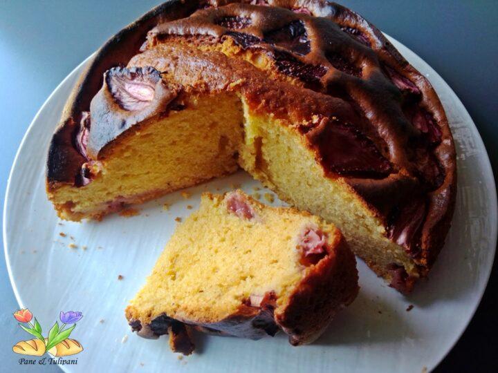 torta con mascarpone e fragole