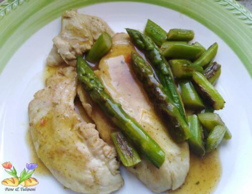 Pollo con asparagi e salsa al curry