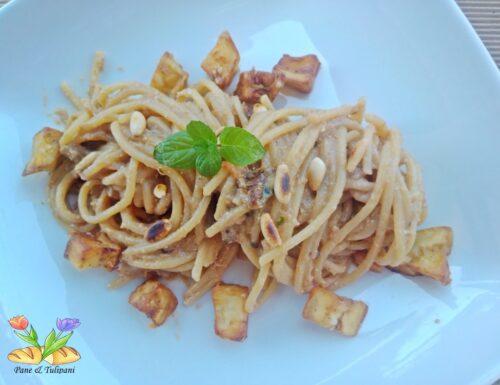 Spaghettoni con melanzane e ricotta