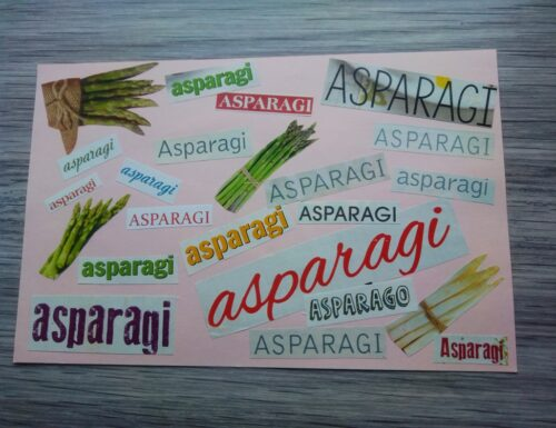 Asparagi, collages ricco