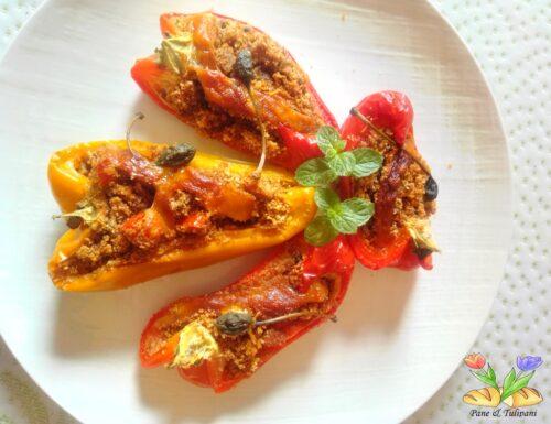 Barchette di peperoni gratinati