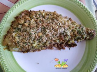ombrina gratinata con uova