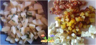 omelette con patate e bacon