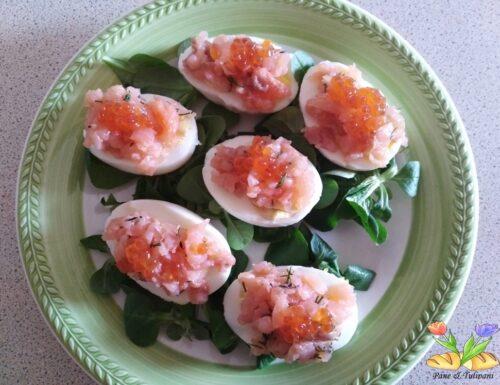 Uova farcite con salmone