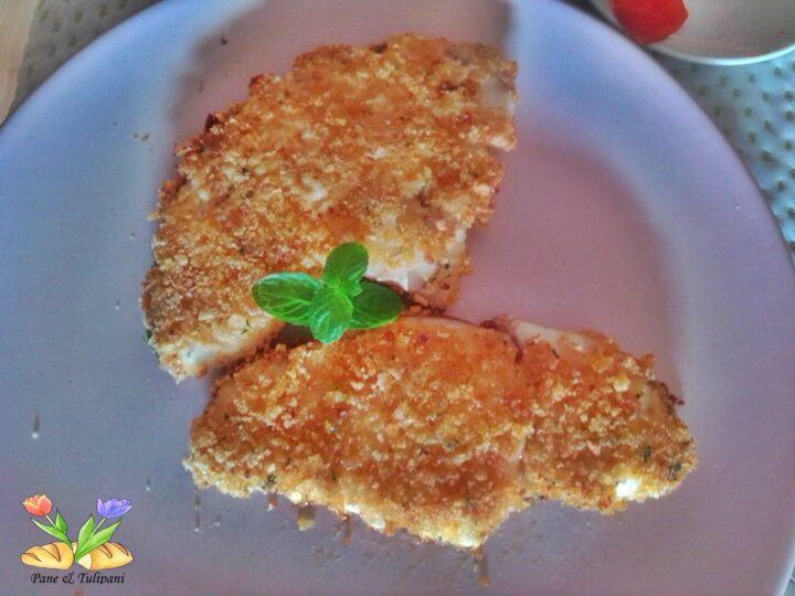 verdesca con panatura di patatine al pomodoro