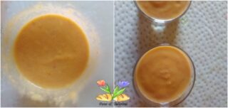 zuppa di pesche con mandorle e cannella