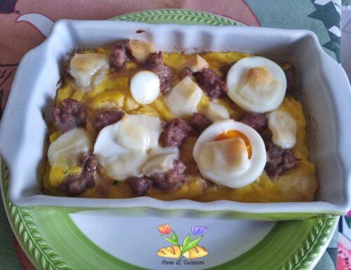 Timballo di patate e uova