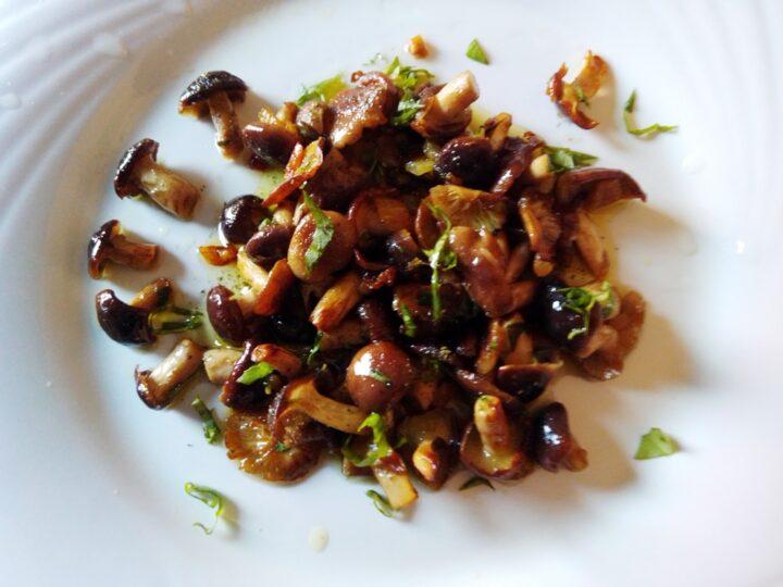 funghi pioppini trifolati con erbe aromatiche