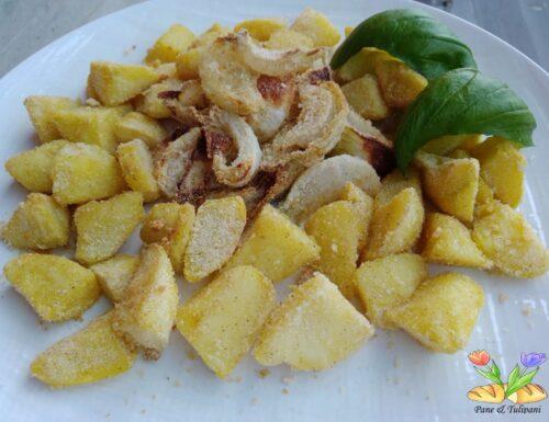 Patate e cipolle sabbiate in airfreyr