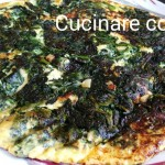 Frittata di spinaci, ricotta e uova in padella