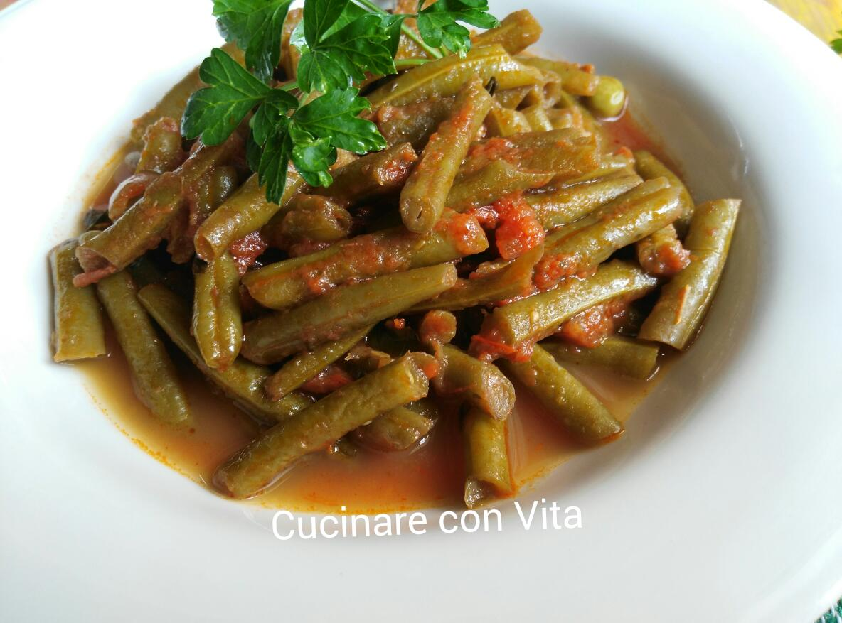Fagiolini in umido cucinare con vita - Cucinare i fagiolini ...