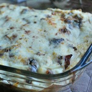 Lasagne con radicchio e formaggio