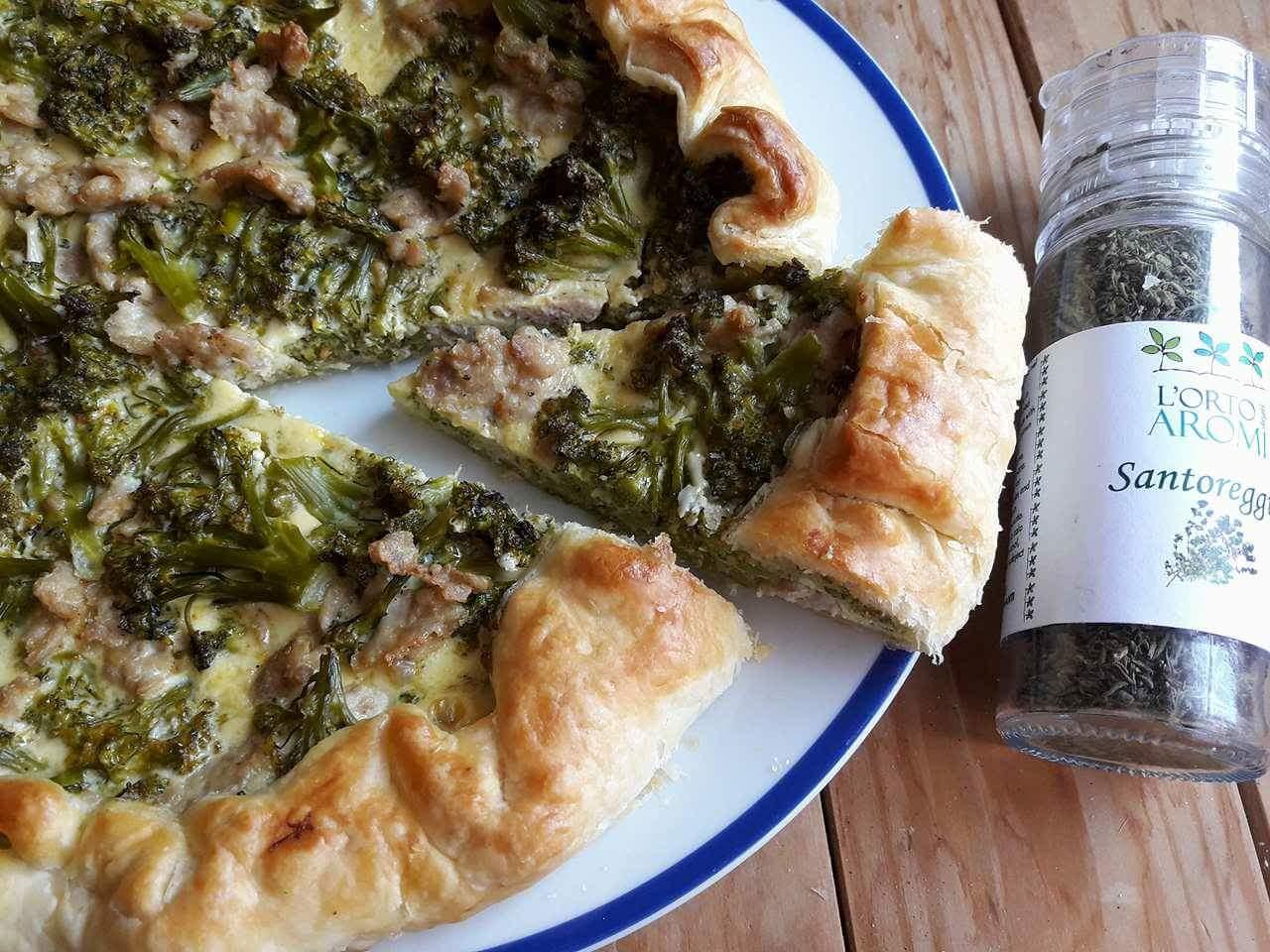 Torta di broccoli e salsiccia cucinare con vita - Come cucinare salsiccia ...