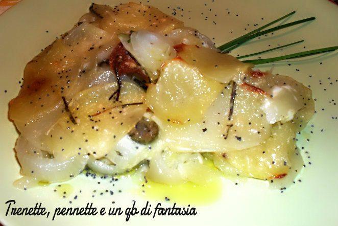 Tortino di zucchine romanesche con cipolla e olive