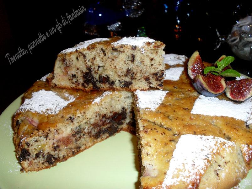 Torta di fichi settembrini e cioccolato fondente