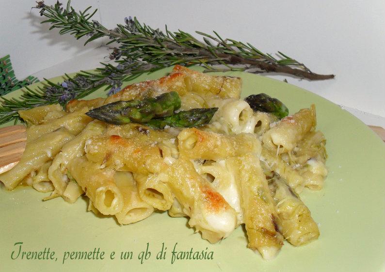 Tortiglioni al forno con asparagi