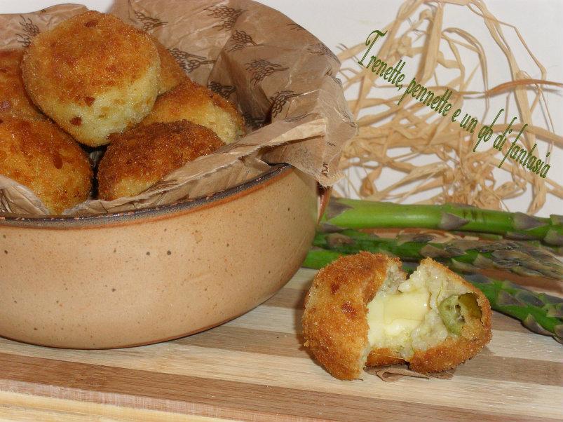Crocchette di riso asparagi e scamorza