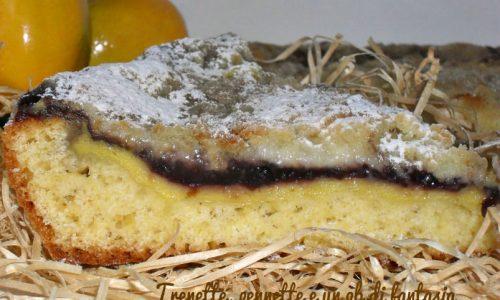 Crostata morbida crema e mirtilli