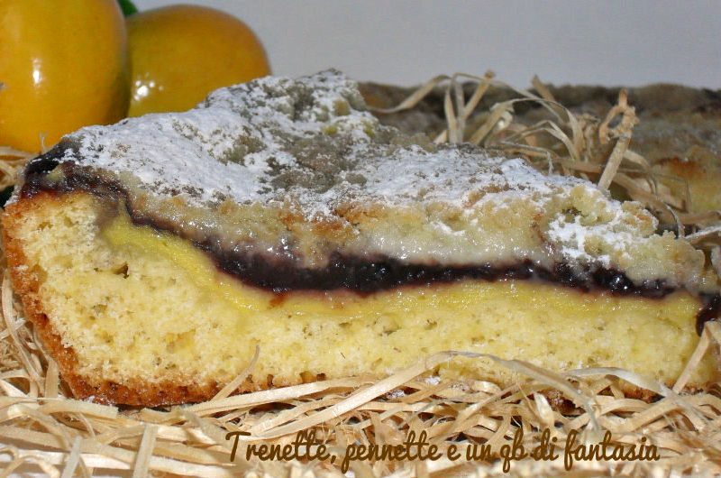 Crostata morbida crema e mirtilli