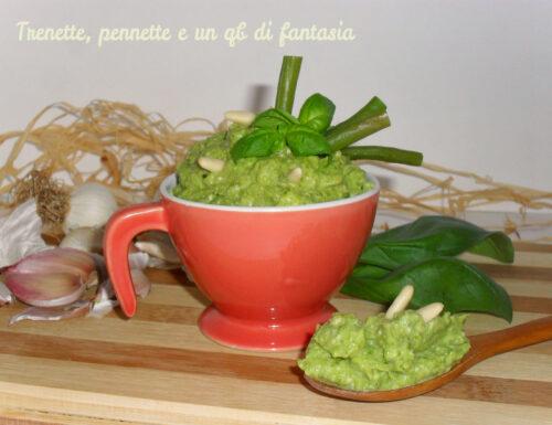 Pesto di fagiolini al profumo di basilico