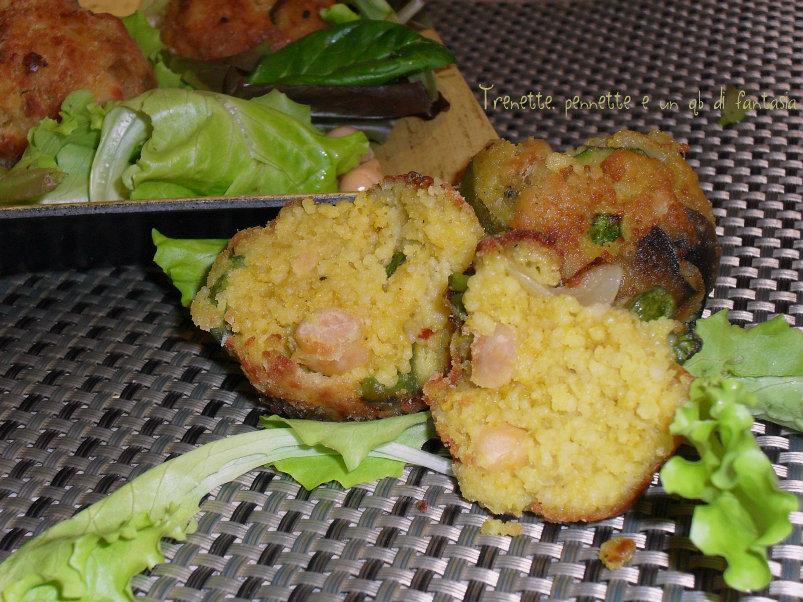 Polpette di cous cous alle verdure