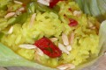 Riso alla curcuma con peperone verde