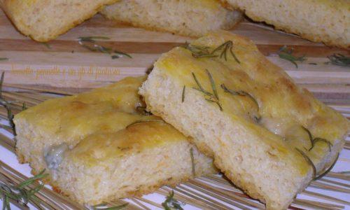 Focaccia con zucca e gorgonzola