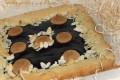Crostata con fonduta al cioccolato