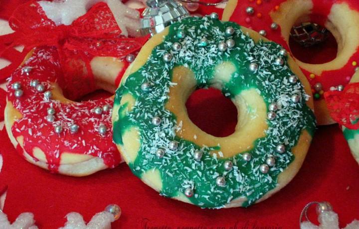 Donuts al forno…versione Natalizia