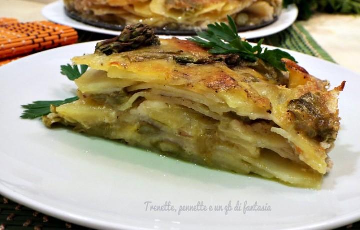 Tortino di patate e asparagi