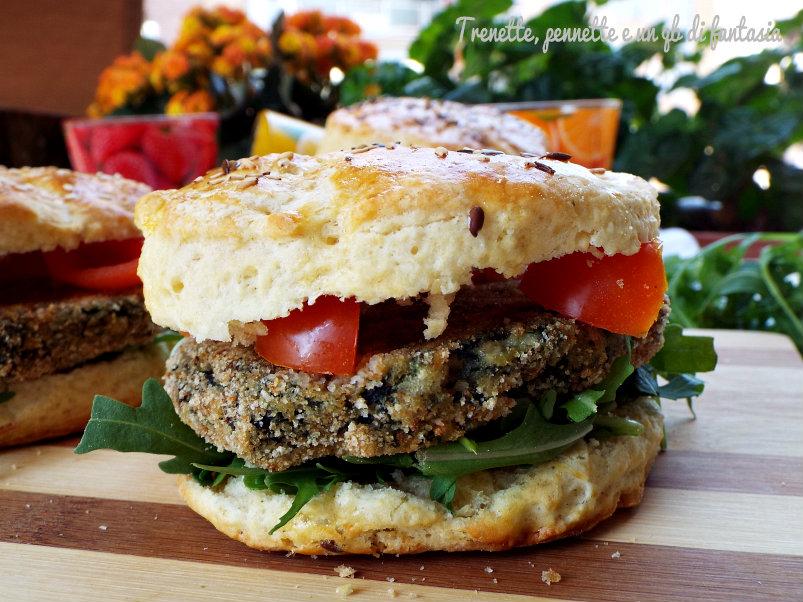 Panini scones con hamburger di verdura   Trenette,