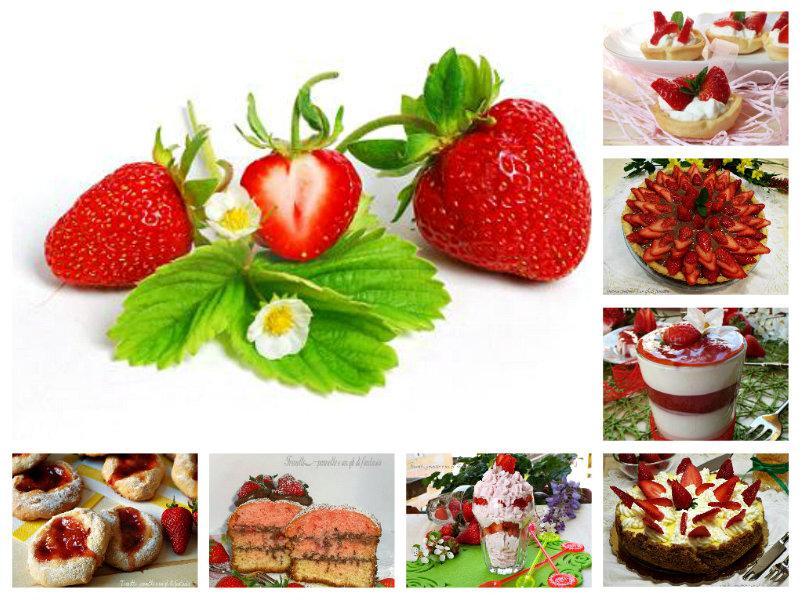 Dolci e dessert con le fragole