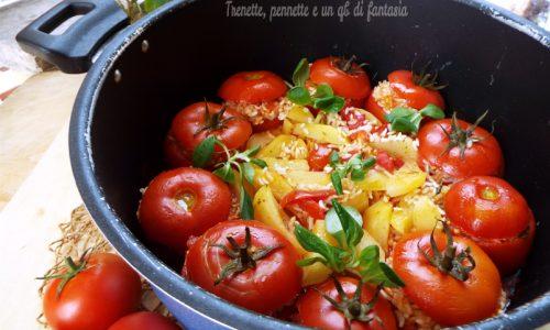 Pomodori con riso in pentola