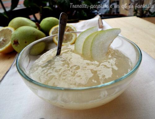Crema di pere e limone