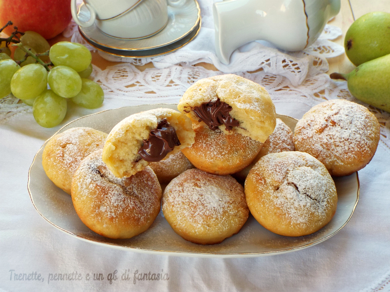 Biscotti alla crema di pera e nutella