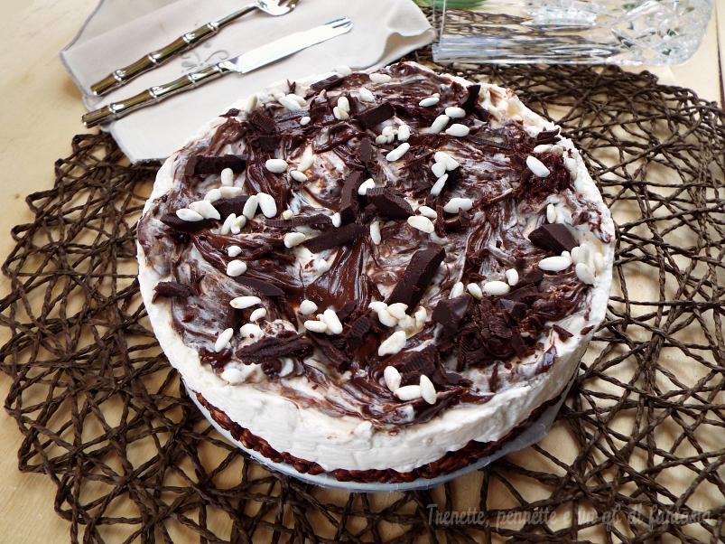 Cheesecake riso soffiato con crema al latte ricetta dolce
