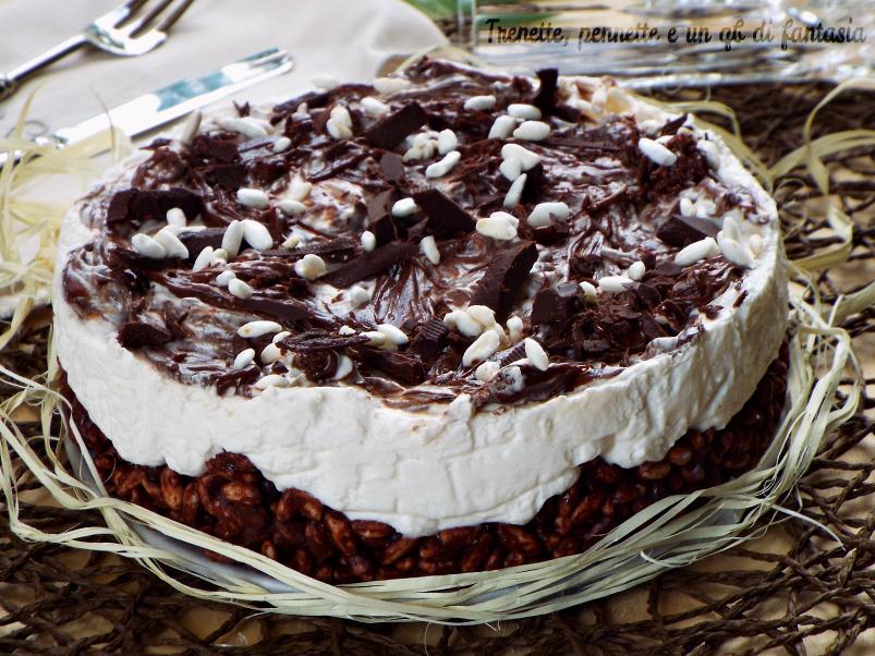 Cheesecake riso soffiato con crema